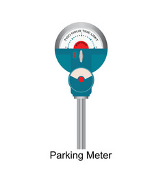 expired retro parking meter vector image