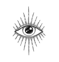 Eye providence masonic symbol all seeing vector