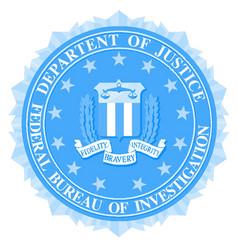 Fbi seal in blue vector