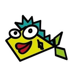 fish funny character comic vector image