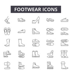 footwear line icons for web and mobile design vector image