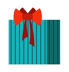 Gift open box icon vector image