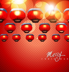 glowing christmas lamps vector image