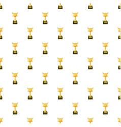 Golden trophy cup pattern vector