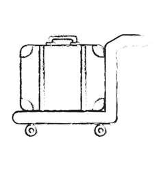 Handcart with luggage vector