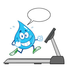 healthy water drop cartoon character running vector image