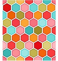 Hexagon multicolored seamless pattern vector