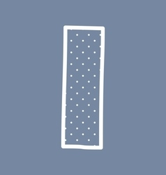 I alphabet letter with white polka dots on blue vector