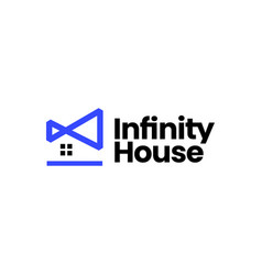 infinity house logo icon vector image