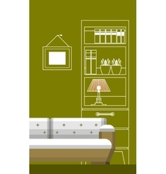 Interior living vector image