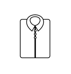 line man shirt casual design style vector image