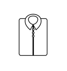 Line man shirt casual design style vector