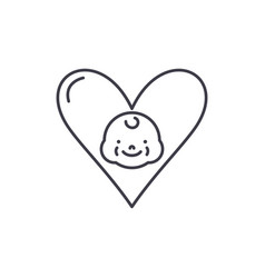 love to child line icon concept love to child vector image