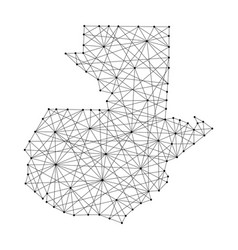 Map of guatemala from polygonal black lines vector