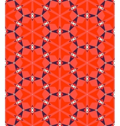 Multicolor geometric pattern in bright red vector