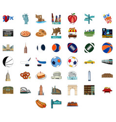 new york city icons vector image