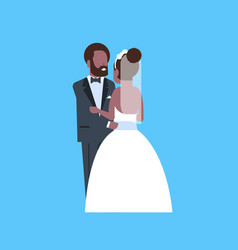 Newlyweds just married african american man woman vector