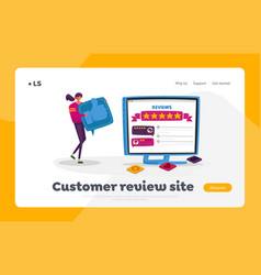online review ranking evaluation and rating vector image