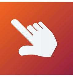 Paper Hand Cursor in Perspective on Orange vector
