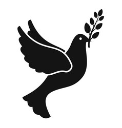 peace pigeon icon simple style vector image