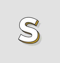 pop art logo letter s vector image