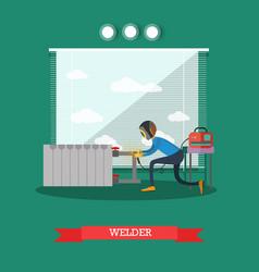 professional welder concept in vector image