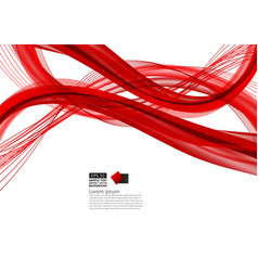 red abstract wave background modern design with vector image