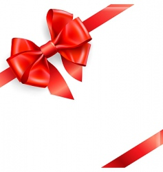 red bow isolated on white vector image