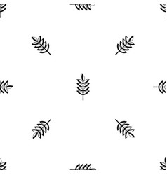 Rye spica pattern seamless black vector