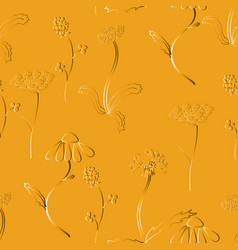 seamles pattern with meadow flower vector image