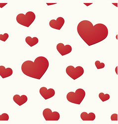 seamless background with hearts motif vector image