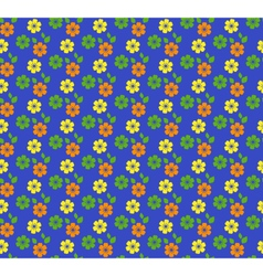 seamless bright summer pattern with flowers vector image