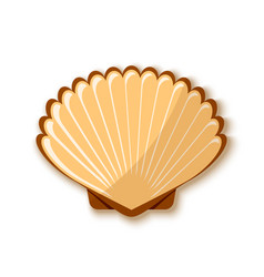 seashell icon in flat style placed on white vector image