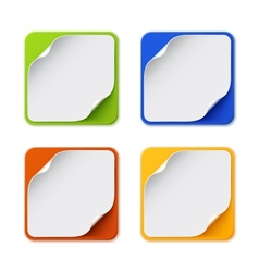 set four colorful square banners vector image