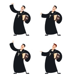 Set of Catholic priests vector