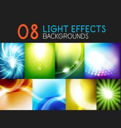 set of light effect backgrounds - shiny sky vector image