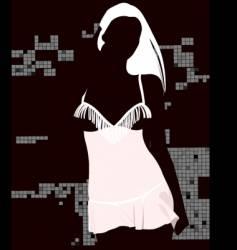 sexy black light girl vector image