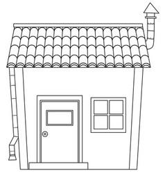 Simple cartoon house outline vector