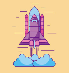 space shuttle launch exploration cosmic vector image
