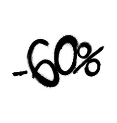 sprayed -60 percent graffiti with overspray in vector image