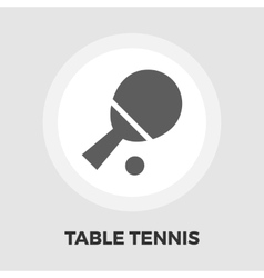 Table tennis icon flat vector image