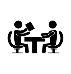 team work business people icon image vector image