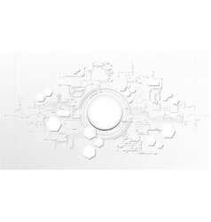 technological abstract technical digital element vector image