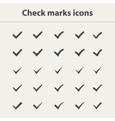 Tick icon set vector image