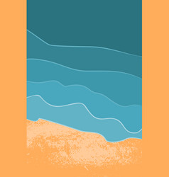 top view of the tropical beach vector image