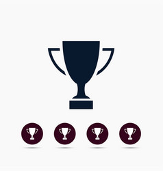 trophy icon simple winner element symbol design vector image