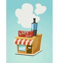 Vape shop store front vector