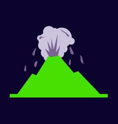 Volcano eruption with lava vector