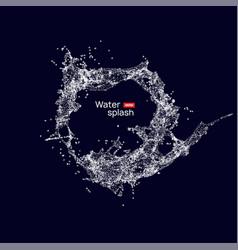 water splash circle background on dark wave vector image