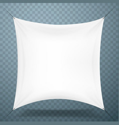 white cloth banner signboard vector image